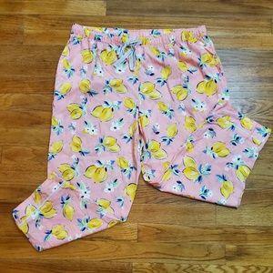 Gilligan & O'Malley lemon pajama bottoms size XL